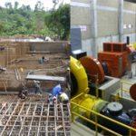 Salle des turbines - Centrale de Matebe
